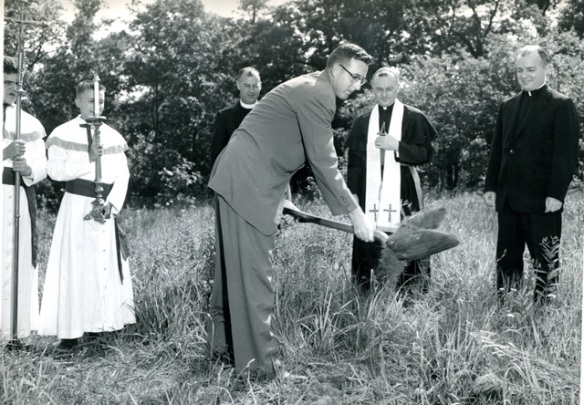 Cardinal Dougherty groundbreaking 28th of June 1955
