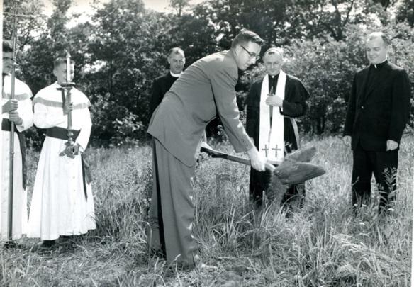 Cardinal Dougherty groundbreaking 28th of June 1955